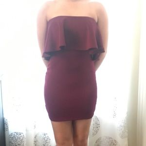 Windsor small maroon strapless dress size small